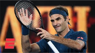 Roger Federer sweeps Taylor Fritz in straight sets in 3rd round | 2019 Australian Open Highlights