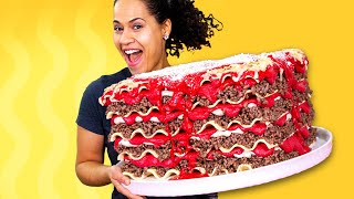 Giant Lasagna Cake & AMAZING NEWS!! | How To Cake It