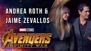 Andrea Roth and Jaime Zevallos Live from the Avengers: Infinity War Premiere
