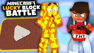 YOUTUBE PLAYBUTTON aus 5000 Lucky Blocks | Lucky Block Battle