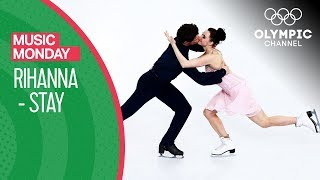 Tessa Virtue and Scott Moir skate to Stay by Rihanna | Music Monday