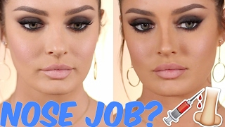How I Straighten my ROUND NOSE with Contouring! No Surgery Needed!