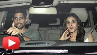 Lovebirds Alia Bhatt Sidharth Malhotra Enter Together At Karan Johar
