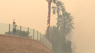 Malibu residents flee massive wildfire