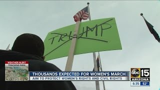 Protesters gather for Women