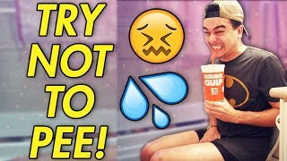 Try Not To Use The Bathroom CHALLENGE! (IMPOSSIBLE)