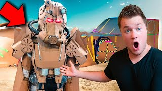 FALLOUT BOX FORT WORKING POWER ARMOR!! 📦 24 Hour Challenge & NERF BATTLE!