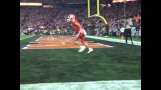 Hunter Renfrow Touchdown 1/11/16 National Championship Clemson vs Alabama