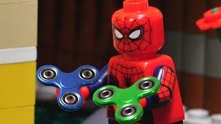 Lego Spiderman Fidget Spinner Tricks