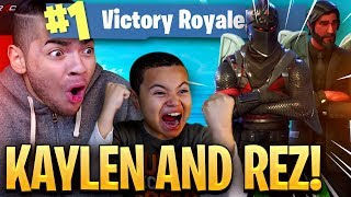 9 YEAR OLD BROTHER AND MINDOFREZ PLAY DUOS!!! I CLUTCH THE IMPOSSIBLE! (EPIC) FORTNITE BATTLE ROYALE