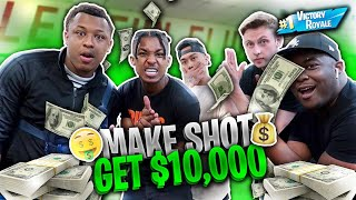 If You Hit The Target, YOU GET $10,000!! (with REAL FORTNITE WEAPONS)