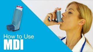 How to use Metered Dose Inhaler (MDI)