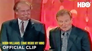 Jack Nicholson & Robin at the Critics' Choice Awards | Robin Williams: Come Inside My Mind | HBO