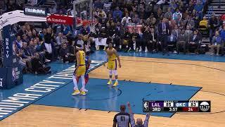4th Quarter, One Box Video: Oklahoma City Thunder vs. Los Angeles Lakers