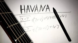 Havana played on PENCIL while playing guitar