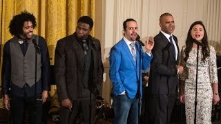 HAMILTON cast - Alexander Hamilton at the White House