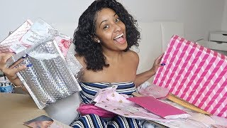 OPENING MY CHRISTMAS GIFTS FROM YOU GUYS!!! VLOGMAS DAY 4