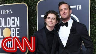 Armie Hammer and Timothée Chalamet on