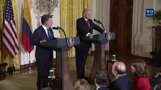 President Trump Holds a Joint Press Conference with President Santos
