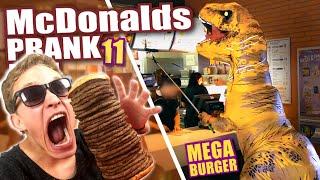 McDonalds PRANK FAIL - T-REX MEGA BURGER  - McDonalds Roulette