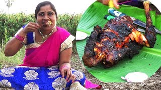 Village Foods - Amazing Roasted Whole Chicken Recipe - BBQ Chicken Recipe - South Indian Cooking