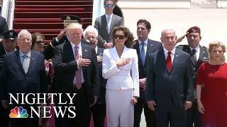 Melania Trump Takes The World Stage   NBC Nightly News