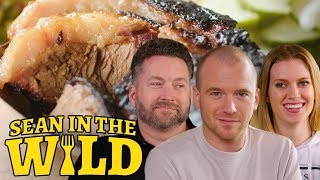 Rooster Teeth and Sean Evans Sample New York City BBQ | Sean in the Wild