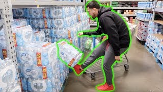 No Hands Challenge At Walmart!! (Almost Got Kicked Out) | VLOGMAS Day 13