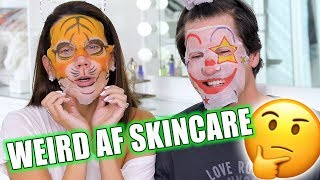 TESTING WEIRD AF SKINCARE PRODUCTS with JAMES