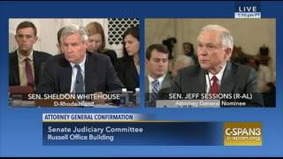 Sen Jeff Sessions Strongly Reminds Sen Sheldon Whitehouse We NOT a DEMOCRACY