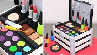 MAKE UP Cosmetics Box Cake  | Pastel Caja De Maquillaje