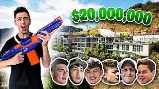 NERF Hide n Seek in $20,000,000 MANSION!!