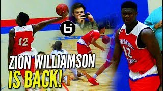 The Zion Williamson Show IS BACK and He's WEARING WHAT?!