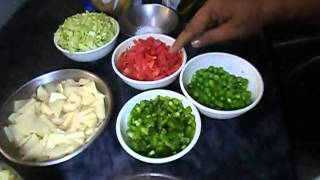 Pakistani desi food Chicken macaroni salad recipe part-1(AAmna