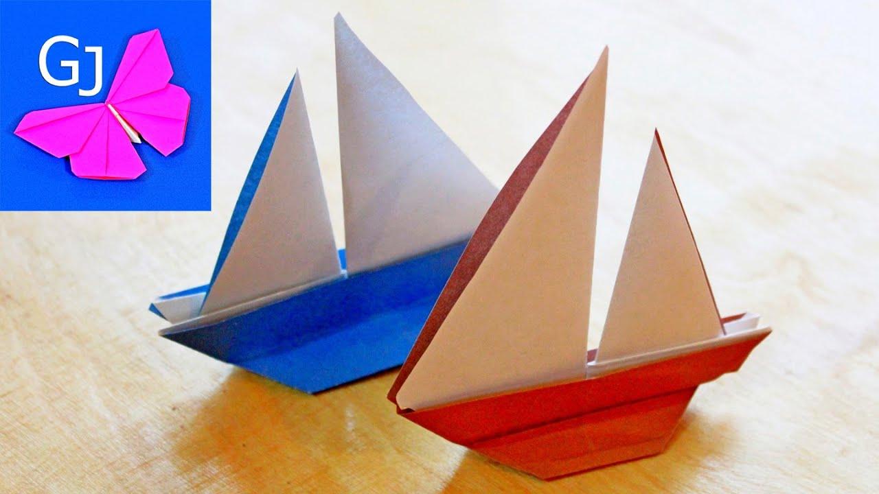 Как сделать из бумаги оригами корабли