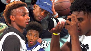 Bronny & Mikey Williams BALLING In Front Of TRAVIS SCOTT! Mikey WINDMILLS In The 8TH GRADE!?