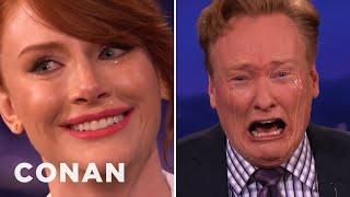 Bryce Dallas Howard Teaches Conan How To Cry On Command  - CONAN on TBS
