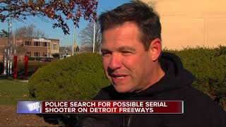 Police search for possible serial shooter on Detroit freeways