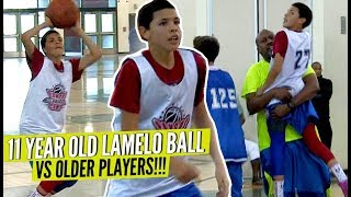 LaMelo Ball 11 Years Old BALLING vs OLDER KIDS!! Hits CRAZY GAME WINNER!!! So Much Confidence!