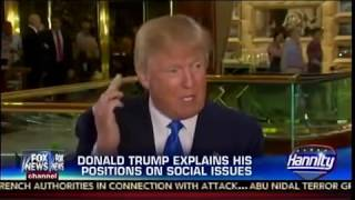 President Donald Trump Talks About Gay Marriage, Pot, Guns, and Abortion with Hannity