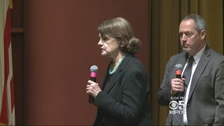 Feinstein Urged To Take Hard Line Against Trump At San Francisco Town Hall