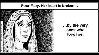 Mary is crying before Jesus Christ because Catholics keep Worshiping her - Catholicism