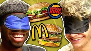 BLIND FAST FOOD CHALLENGE! (Squad Vlogs)