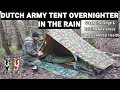 Dutch army tent overnighter in the rain ...mp3