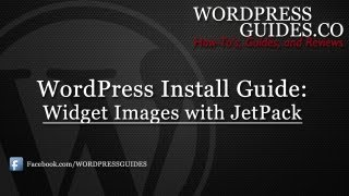How to put an image in your sidebar with Jetpack Plugin