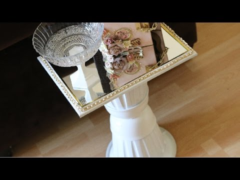 Dollar Tree Diy Mirrored Side Table So Glamorous