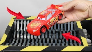 Experiment Shredding Disney Cars 3 Lighting McQueen And Toys | The Crusher
