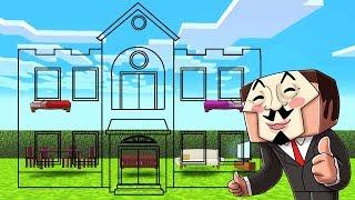 Minecraft - NOOB vs PRO vs HACKER - HIDDEN INVISIBLE HOUSE!