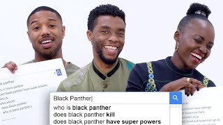 Black Panther Cast Answer the Web