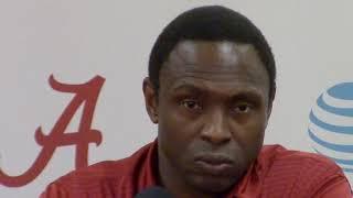 Avery Johnson speaks to the media as Alabama preps for UT-Arlington